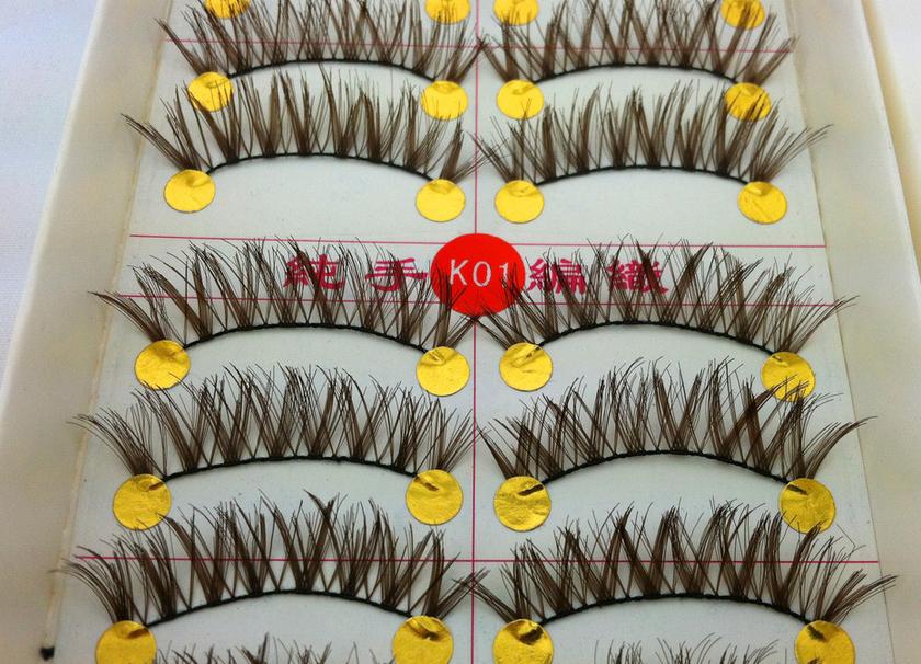 V-K01 ขนตาปลอม(ขายปลีก)สีน้ำตาล