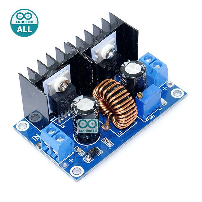 XL4016E1 DC-DC buck module high-power DC step down 8A โมดูลเรกูเลต แปลงไฟจาก 4-38V เป็น 1.25-36V กระแสสูงสุด 8A