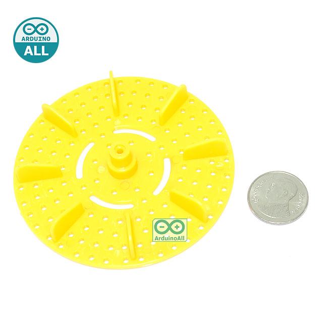 Paddle Whee 75mml ship porous plastic round สีเหลืองส้ม