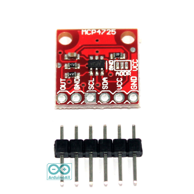 MCP4725 I2C DAC 12bit Breakout Boards