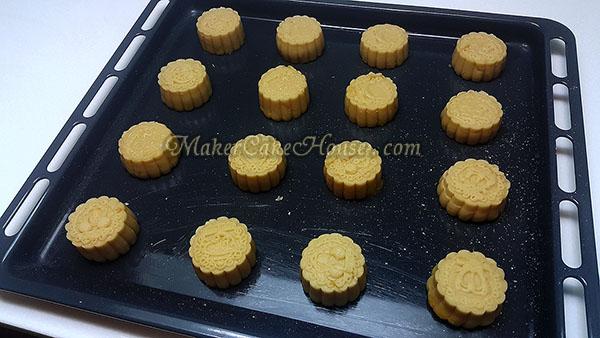 วิธีทำคุกกี้ไส้คัสตาร์ด 15