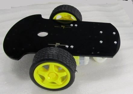 Smart Car 2WD Robot Car Chassis With 2 Motors Magician Robotics Platform for Arduino สีดำ