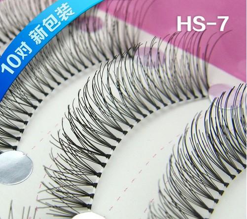 HS-7# ขนตา(ขายปลีก) เเพ็คละ 10 คู่ ขายยกเเพ็ค