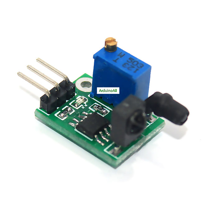 Infrared obstacle avoidance sensor ultra small โมดูลเซนเซอร์สิ่งกีดขวางแบบอินฟาเรด 1-80 cm