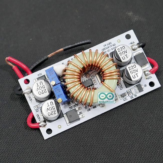 Step Up Module 250W 8.5-48V to 12-50V Aluminium Plate