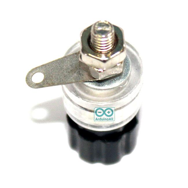 Terminal M4 4mm screw inverter audio amplifier power supply terminal Black