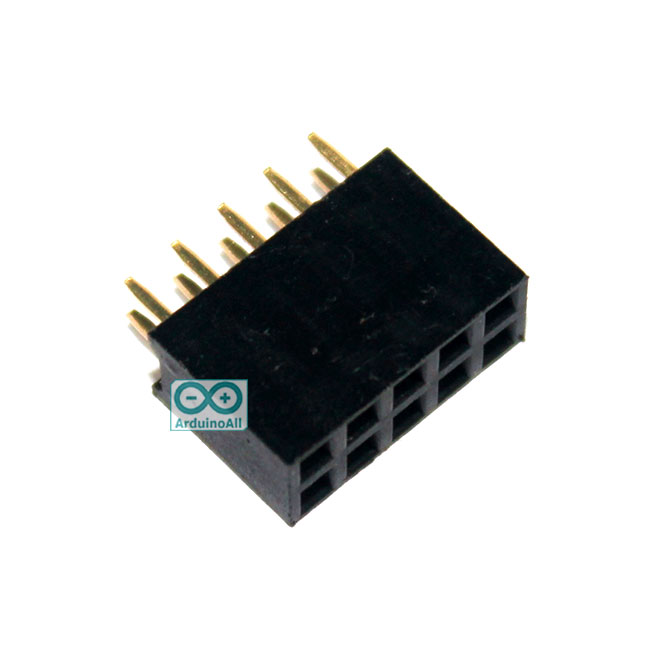 2.54mm pitch female double row female socket 2x5 pin