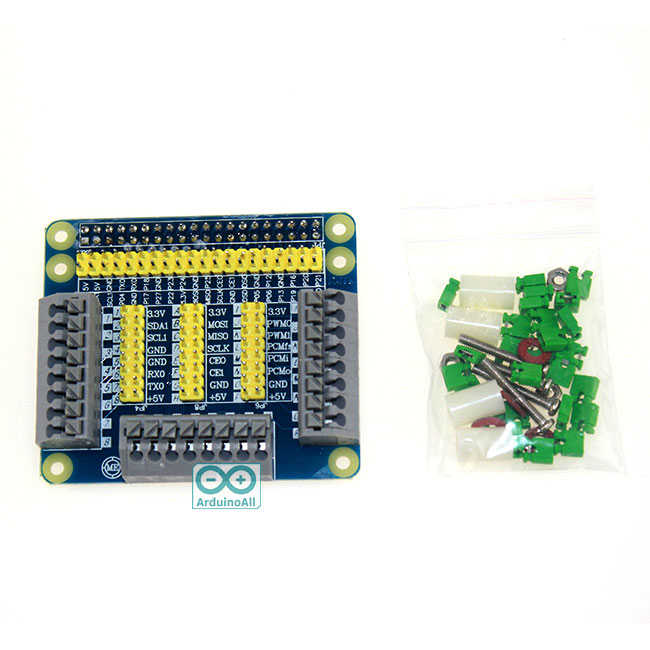 Raspberry 2/3 GPIO multi-function expansion board plug and play