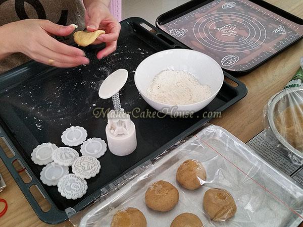 วิธีทำคุกกี้ไส้คัสตาร์ด 9