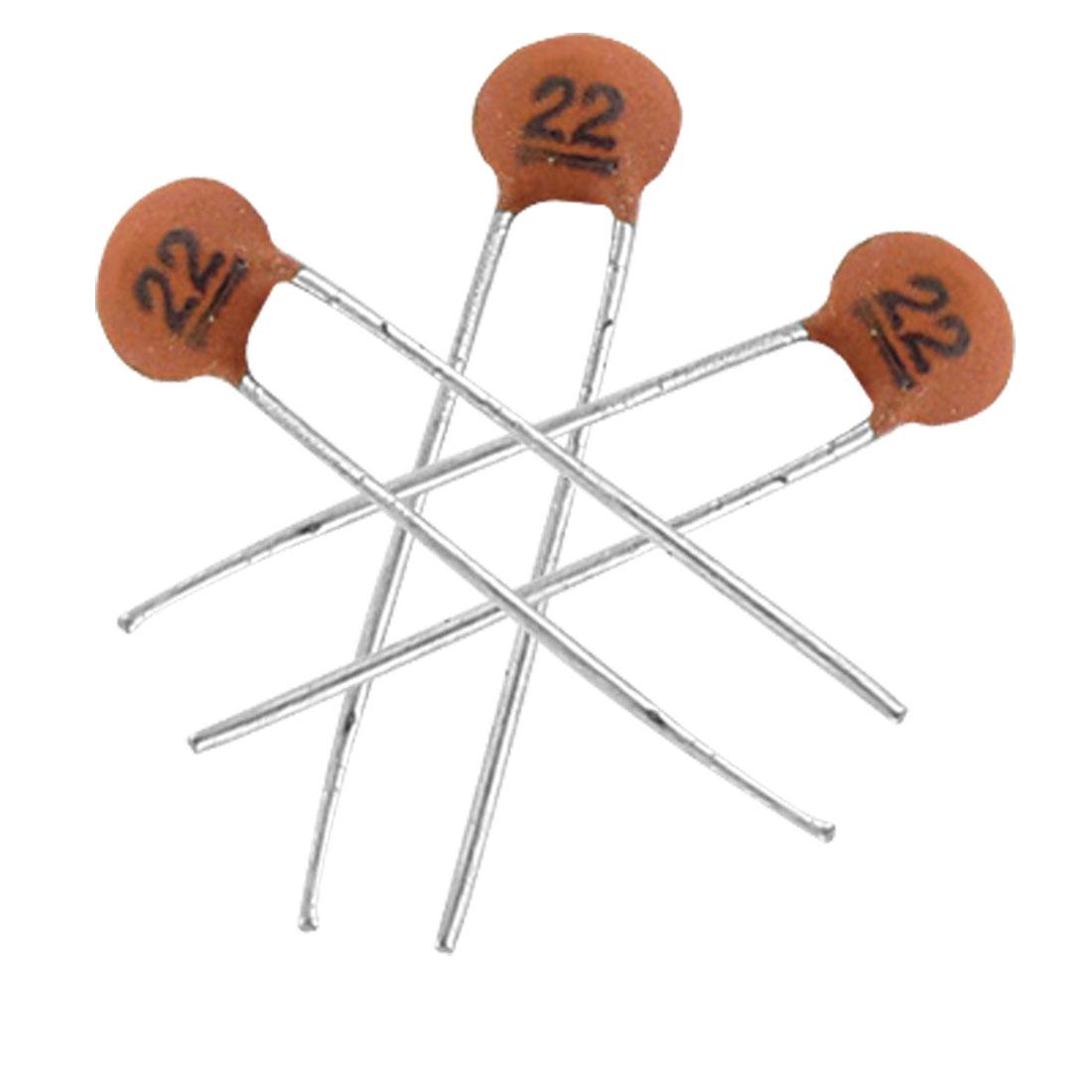 ตัวเก็บประจุชนิดเซรามิก 22PF 50V จำนวน 5 ตัว