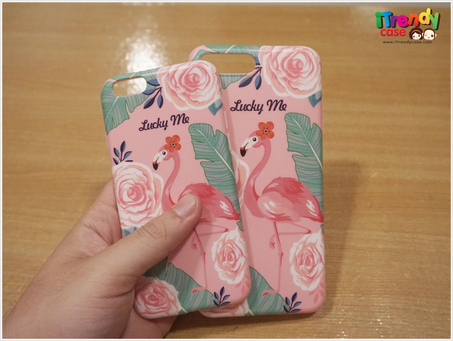 iPhone 8 Plus / 7 Plus - เคส TPU ลาย นกฟลามิงโก้ Flamingos Pink Lucky Me