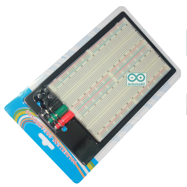 Breadboard Protoboard Test Circuit Board Tie-point 1660 ZY-204 บอร์ดทดลอง 1660 จุด