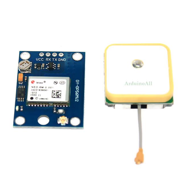 NEO-6M Ublox/u-blox Ublox NEO-6MV2 GPS Module GY-GPS6MV2 พร้อมสายอากาศ