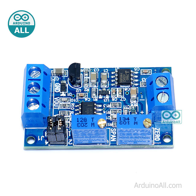 โมดูลแปลงกระแสเป็นโวลต์ 0-20mA หรือ 0-40mA เป็น 0-3.3V 5V 10V Current to voltage module 0-20mA / 4 - 20mA to 0-3.3V 5V 10V voltage transmitter signal conversion