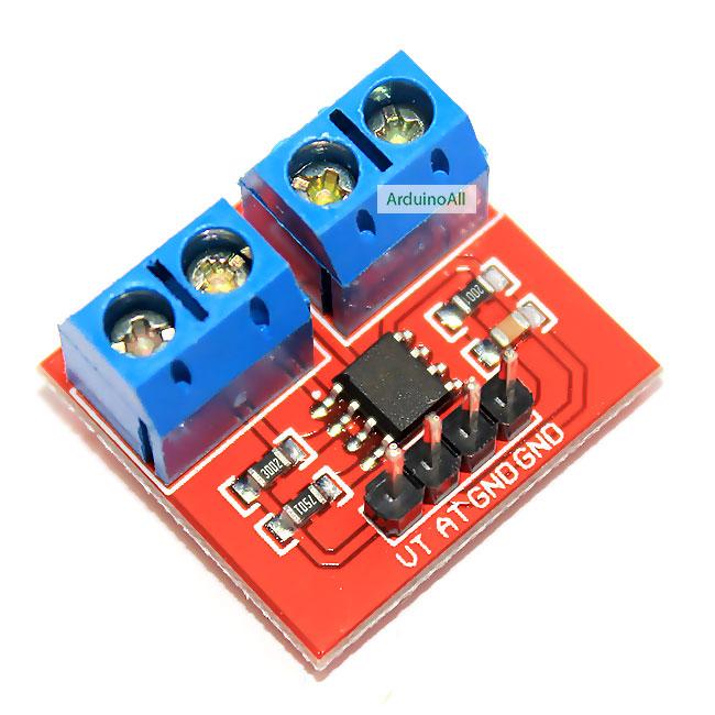 Voltage and Current Sensor voltage detection โมดูลวัดโวลและวัดกระแสไฟฟ้า 3-25V 0-3A