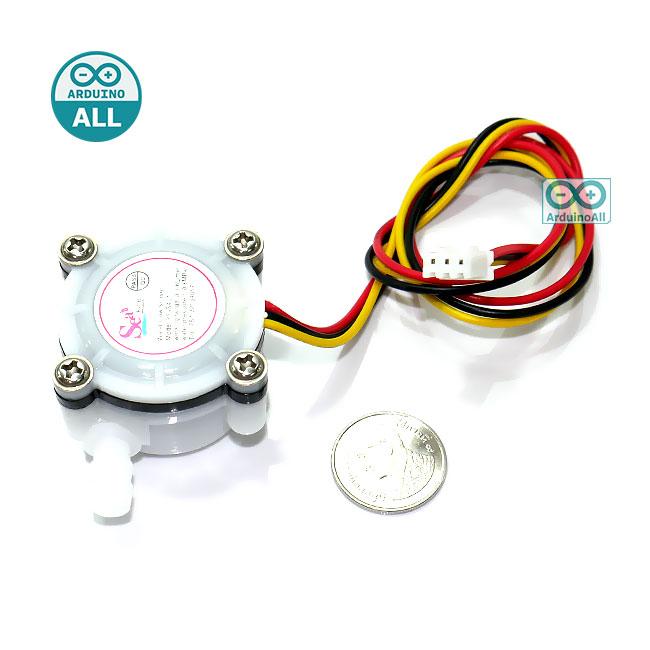 """Digital Water Flow Sensor YF-S401 1/8"""" 0.3-6L/min แรงดันต่ำกว่า 0.8 MPa"""