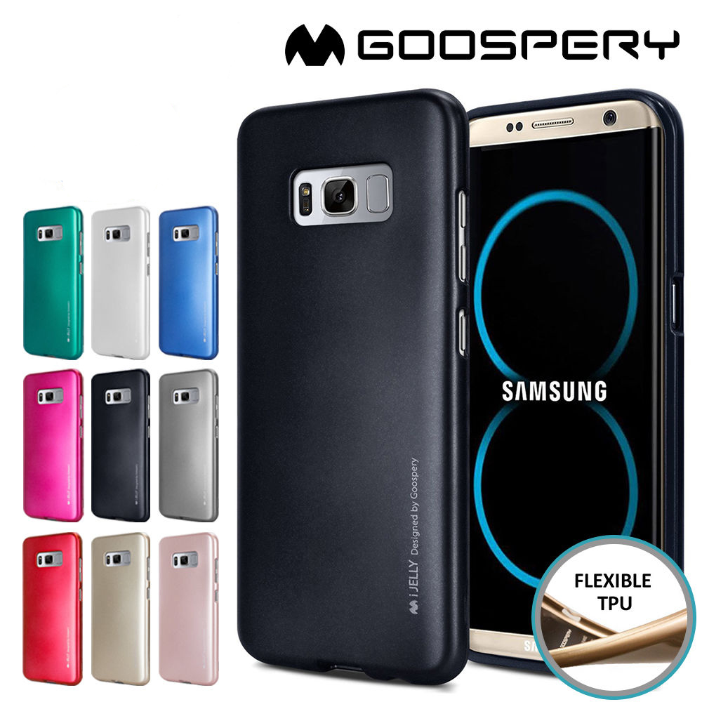 Samsung Galaxy S8 Plus - เคส TPU i-Jelly Metal Case by GOOSPERY (Mercury) แท้