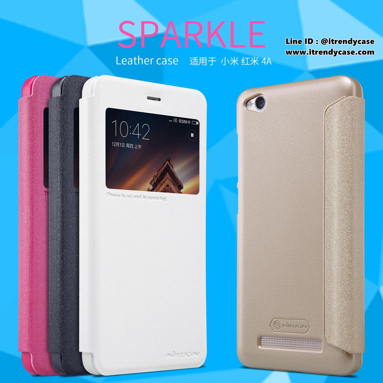 Xiaomi Redmi 4A - เคสฝาพับ Nillkin Sparkle leather case แท้