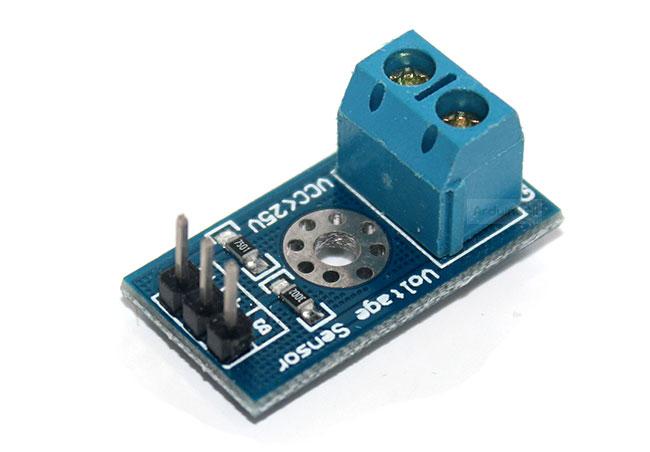 โมดูล วัดแรงดันไฟฟ้า 0-24 โวลต์สำหรับ Arduino Standard Volt Meter Sensor Module For Arduino