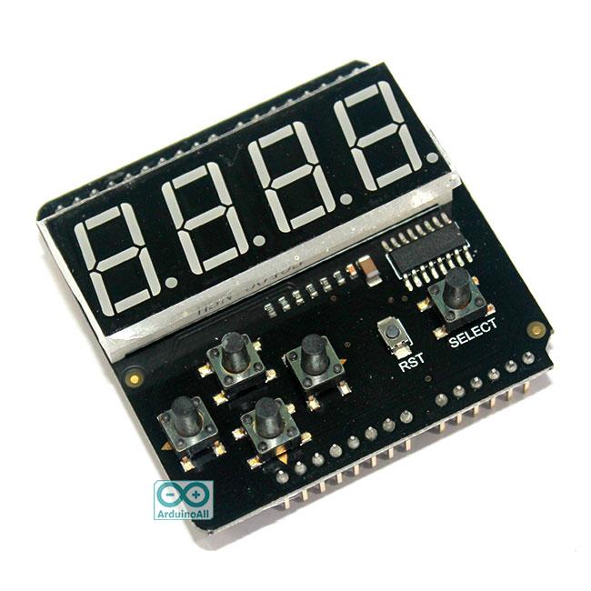 7 Segment LED Keypad Shield For Arduino LED Keypad Shield For Arduino by DFRobot