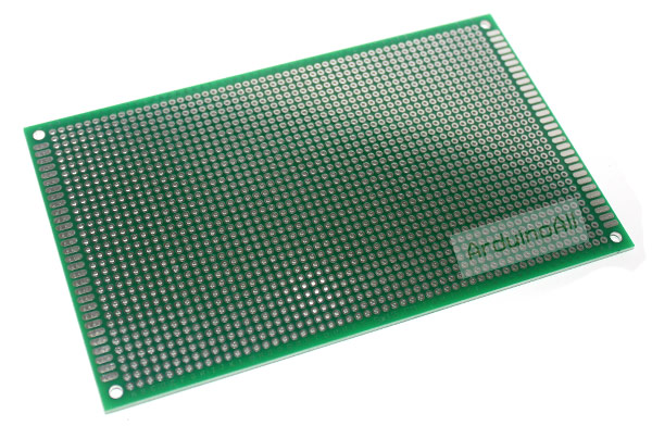 แผ่นปริ๊น PCB อเนกประสงค์แบบ 2 หน้าอย่างดี สีเขียว PCB ขนาด 9x15 เซนติเมตร