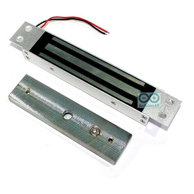 กลอนแม่เหล็กไฟฟ้า กลอนไฟฟ้า Magnetic Lock 180 kg 12V