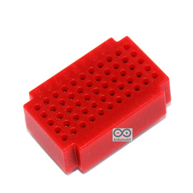 Breadboard แบบ Block ขนาดเล็ก 55 จุด สีแดง