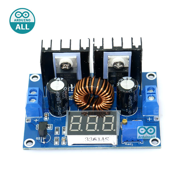 XL4016E1 step down 8A โมดูลเรกูเลต แปลงไฟจาก 4-38V เป็น 1.25-36V กระแสสูงสุด 8A พร้อมโวลต์มิเตอร์