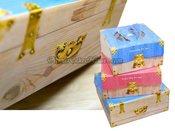 กล่องเค้กรูปหีบน่ารักสีสดใส