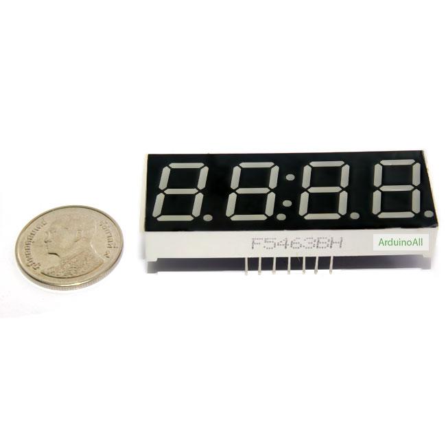 "7 Segment 0.56"" 4 digit clock Red ไฟ 7 segment 0.56"" 4 หลัก สีแดงพร้อมจุดนาฬิกา แบบไฟบวกร่วม 5463BH"