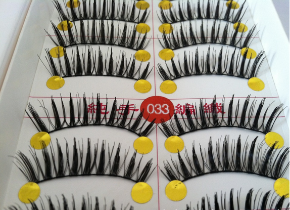 V-033 ขนตา(ขายปลีก) เเพ็คละ 10 คู่