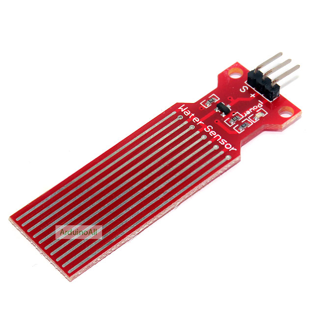 โมดูล เซนเซอร์น้ำฝน / ระดับน้ำ Rain Raindrop Water Level Sensor Module Height Depth of Detection For Arduino