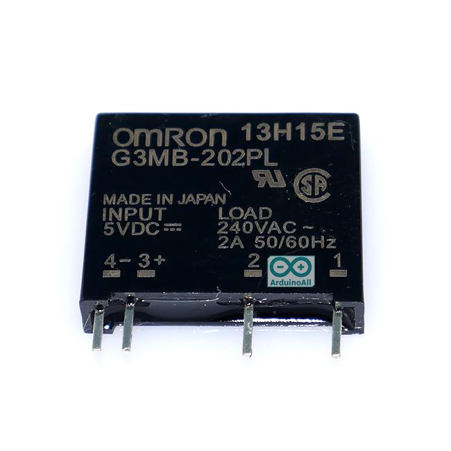 Omron SSR relay 5V 2A 240VAC Solid State Relay รีเลย์แบบไร้หน้าสัมผัสยี่ห้อ Omron 5V
