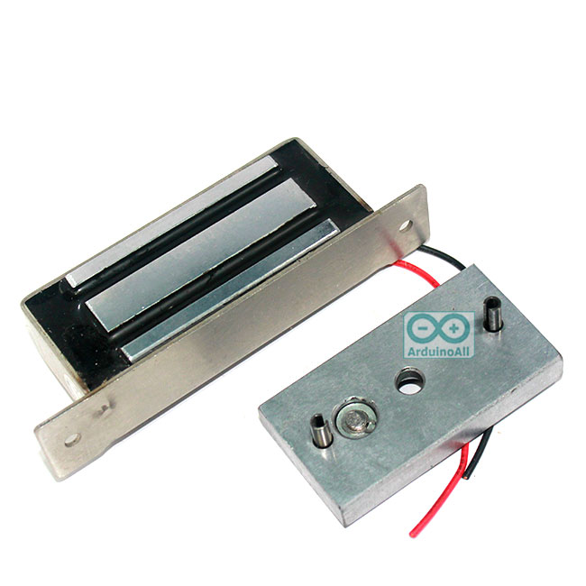 กลอนแม่เหล็กไฟฟ้า กลอนไฟฟ้า Magnetic Lock 80 kg 12V