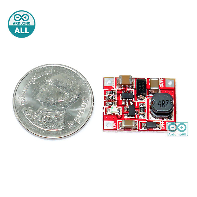 Step Up Module 1-5V to 5V 1A โมดูลแปลงไฟขึ้น 1-5V เป็น 5V กระแสสูงสุด 1.5A