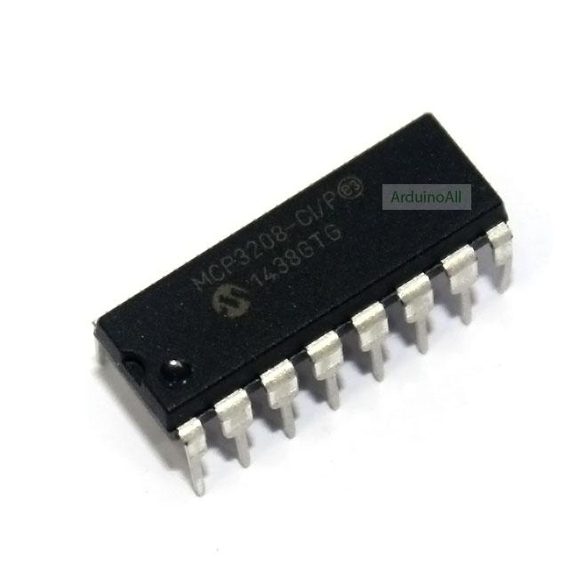 MCP3208 IC แปลง Analog เป็น Digital 8 ช่อง ขนาด 12bit