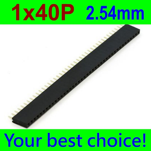 1x40 Pin 2.54mm Pin Square Female Pin Header Connector