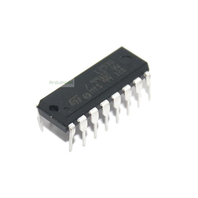 IC L293D ไอซีขับมอเตอร์ 4.5-36Vdc 600mA L293D DC Motor Driver L293 IC