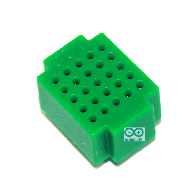 Breadboard แบบ Block ขนาดเล็ก 25 จุด สีเขียว