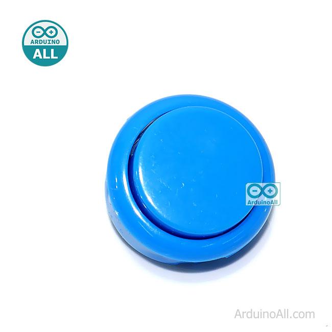 Arcade Push Button สวิตช์ปุ่มกดติดปล่อยดับ สีฟ้า