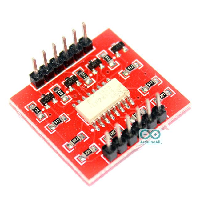 บอร์ดควบคุมไฟ 0-24V ด้วย Arduino แบบแยกกราวน์วงจร Opto Isolation ความปลอดภัยสูง