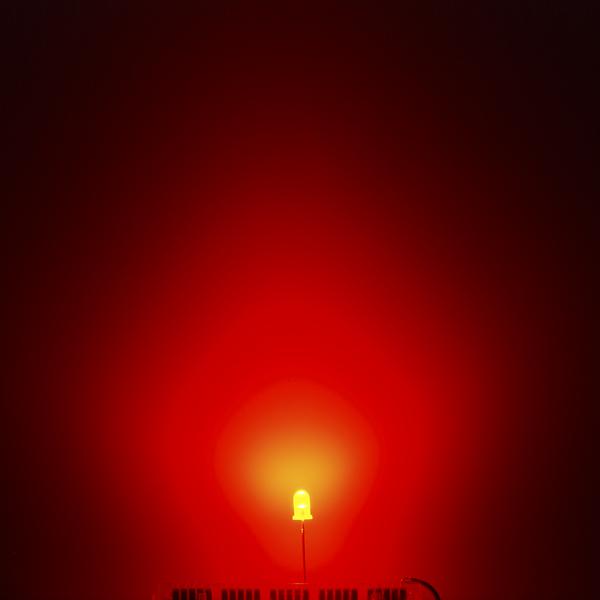 LED ขนาด 5mm สีแดง จำนวน 5 ดวง คละแบบ