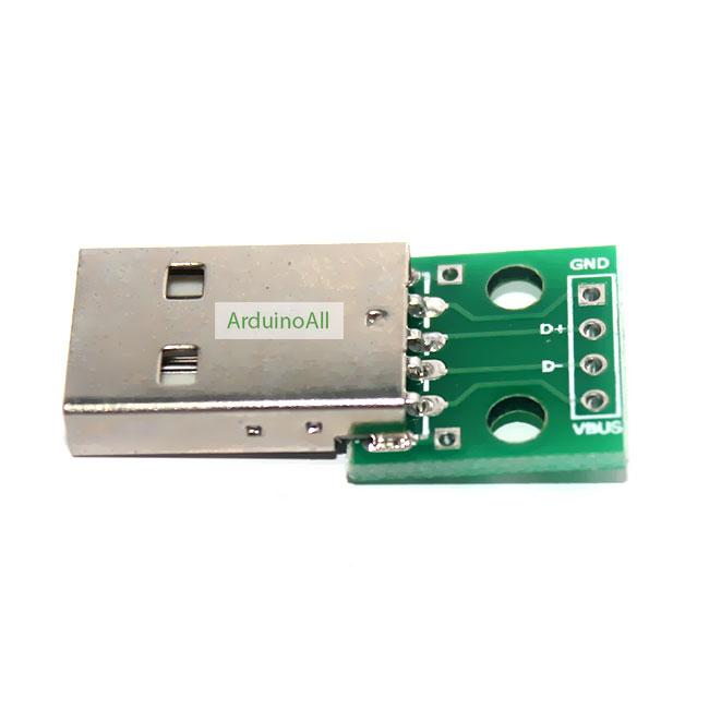 USB Type A Male Breakout บอร์ดแยกขา USB Type A ตัวผู้