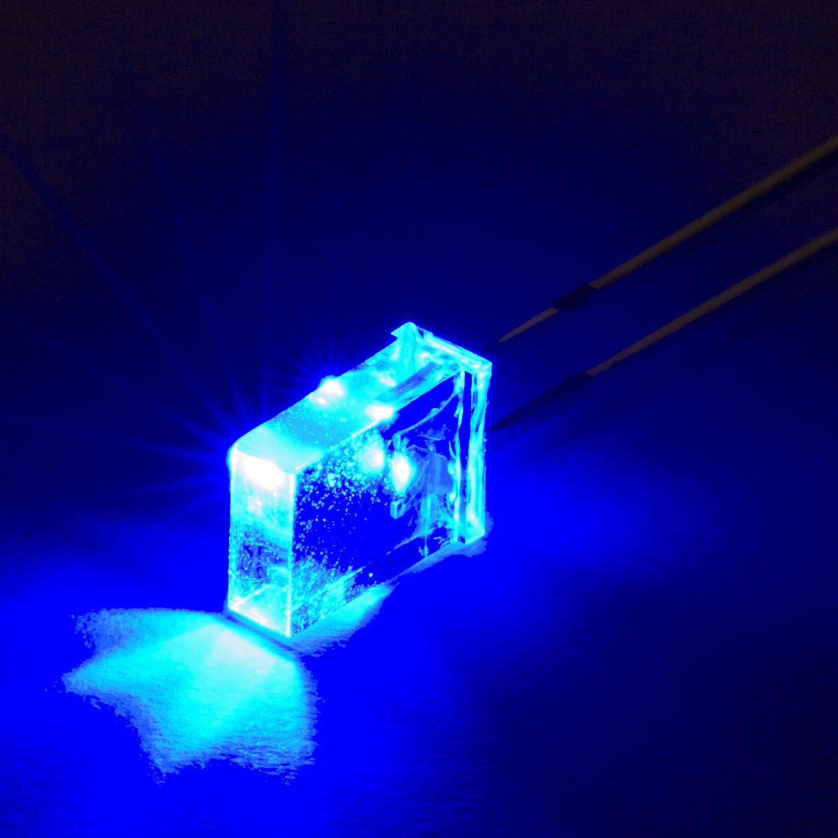 LED แบบเหลี่ยม LED เหลี่ยม สีน้ำเงิน จำนวน 5 ชิ้น