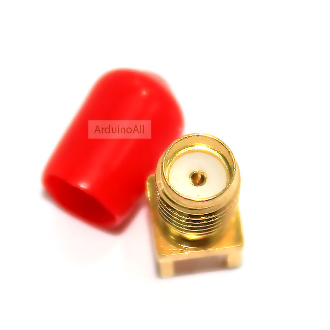 Edge Mount PCB Board Receptacle RP SMA Jack Connector Adapter ตัวเมีย