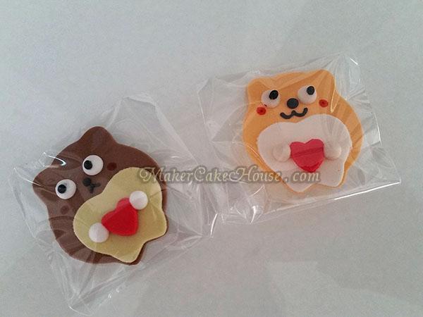 กัมเพสรูปหมีกอดหัวใจ ( 5 ชิ้น )