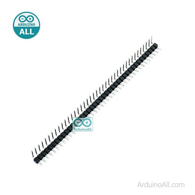 ก้างปลา แบบฉาก 90 องศา 40 ขา 2.54mm Right Angle Male Single Row Pin Header Connectors