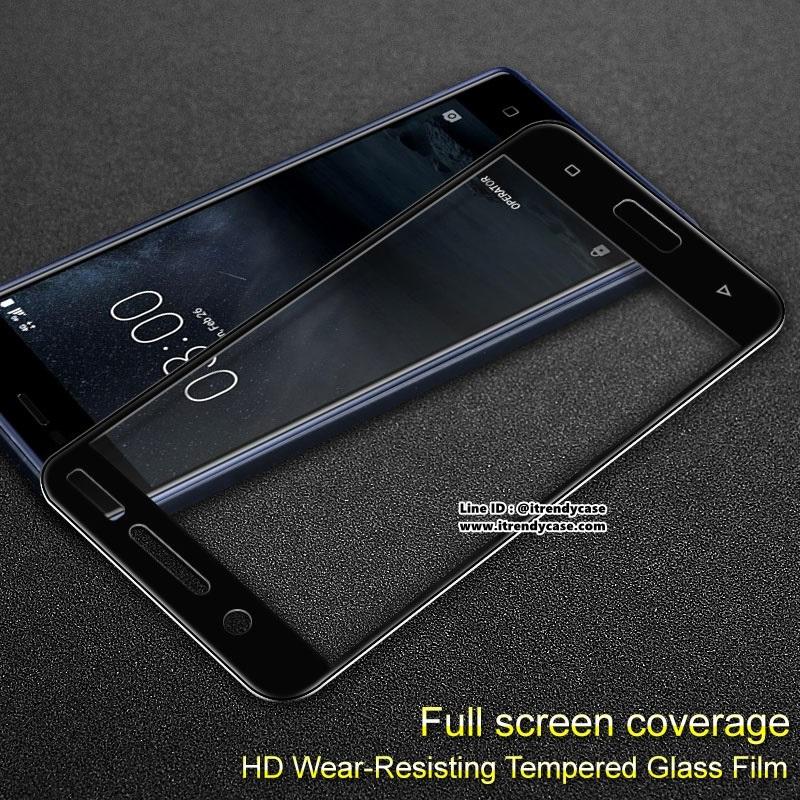 Nokia8 (เต็มจอ) - ฟิลม์ กระจกนิรภัย P-one 9H 0.26m ราคาถูกที่สุด