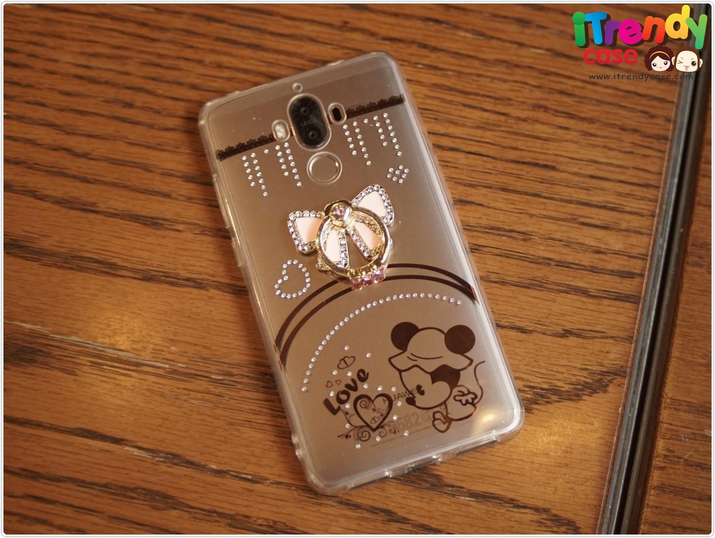 Huawei Mate9 - เคสลาย Baby Minnie พร้อมที่ตั้งแหวนด้านหลัง