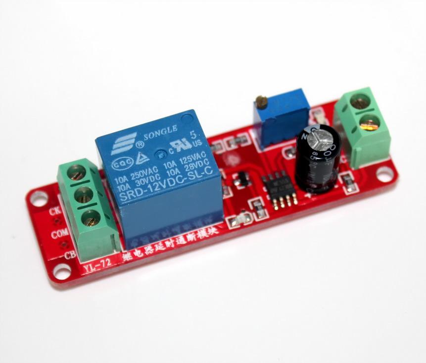 รีเลย์ หน่วงเวลา เปิด 12 โวลต์ Delay Relay Module Time Delay Switch Delay Timer Relay 1-10s Fixed DC 12V